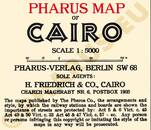 Pharus-Plan Kairo 1912 Legende