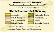Pharus-Plan Abessinien 1935 Legende