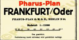 Pharus-Plan Frankfurt (Oder) 1933 Legende