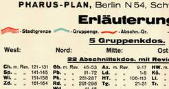 Pharus-Plan Berlin 1945, Panzersperrenplan (östlicher Teil) Legende