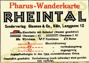 Pharus-Plan Rheintal 1930 Legende