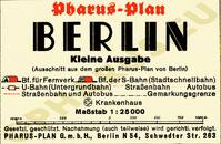 Pharus-Plan Berlin 1936