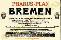 Pharus-Plan Bremen 1927 Legende