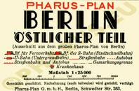 Pharus-Plan Berlin 1934, östlicher Teil Legende