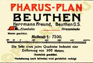 Pharus-Plan Beuthen 1922 Legende