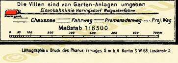Pharus-Plan Zinnowitz 1925 Legende