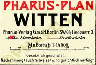 Pharus-Plan Witten 1920 Legende