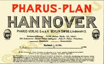 Pharus-Plan Hannover 1913 Legende