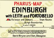 Pharus-Plan Edinburgh 1912 Legende