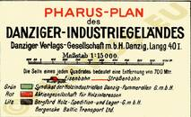 Pharus-Plan Danzig, 1923 Legende