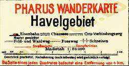 Pharus-Plan Havelgebiet 1922 Legende