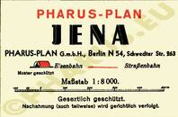 Pharus-Plan Jena 1934 Legende