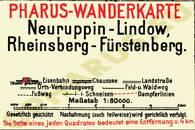 Pharus-Plan Neuruppin - Lindow 1920