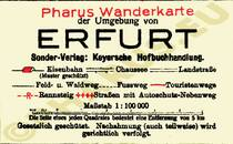 Pharus-Plan Erfurt 1922 Legende