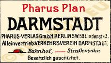 Pharus-Plan Darmstadt 1910 Legende