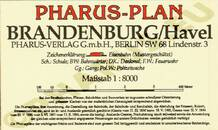 Pharus-Plan Brandenburg / Havel 1920 Legende