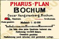 Pharus-Plan Bochum 1925 Legende