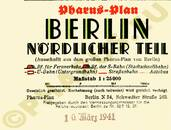 Pharus-Plan Berlin 1937 (nördliche Vororte) Legende