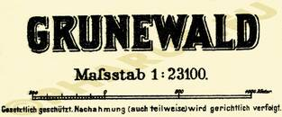Pharus-Plan Grunewald 1905 Legende
