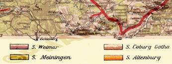 Pharus-Plan Thüringen 1920 Legende