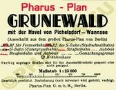 Pharus-Plan Berlin 1934 Grunewald Legende