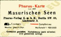 Pharus-Plan Lötzen 1925 Legende