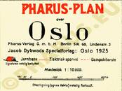 Pharus-Plan Oslo 1925 Legende