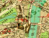 Pharus-Plan London 1932 Ausschnitt Westminster