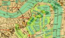 Pharus-Plan London 1932 Ausschnitt Docklands