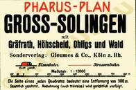 Pharus-Plan Groß Solingen 1931 Legende