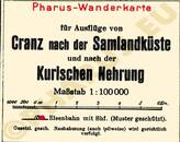Pharus-Plan Kurische Nehrung 1930 Legende