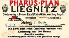 Pharus-Plan Liegnitz 1912 Legende
