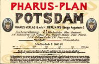 Pharus-Plan Potsdam 1906 Legende