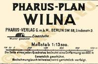 Pharus-Plan Wilna 1917 Legende