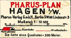 Pharus-Plan Hagen 1925 Legende