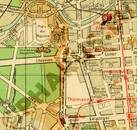 Pharus-Plan Berlin 1952 Ausschnitt Brandenburger Tor
