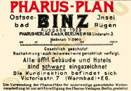 Pharus-Plan Binz 1929 Legende