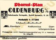 Pharus-Plan Oldenburg 1941 Legende