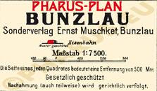 Pharus-Plan Bunzlau 1913 Legende