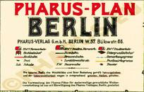 Pharus-Plan Berlin 1930 Legende