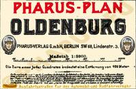 Pharus-Plan Oldenburg 1919 Legende