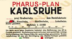 Pharus-Plan Karlsruhe 1930 Legende