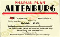 Pharus-Plan Altenburg 1935 Legende
