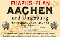 Pharus-Plan Aachen 1906 Legende