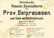 Pharus-Plan Ostpreußen 1912 Legende