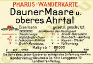 Pharus-Plan Dauner Maare 1925 Legende