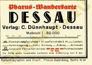 Pharus-Plan Dessau 1938 Legende