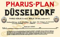 Pharus-Plan Düsseldorf 1925 Legende
