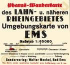 Pharus-Plan Ems, Bad 1938 Legende