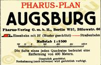 Pharus-Plan Augsburg 1932 Legende